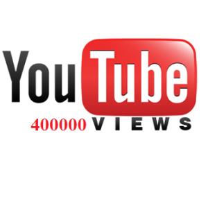 400000 YouTube Views