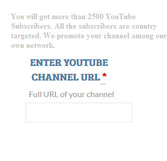 Enter Your YouTube Channel URL