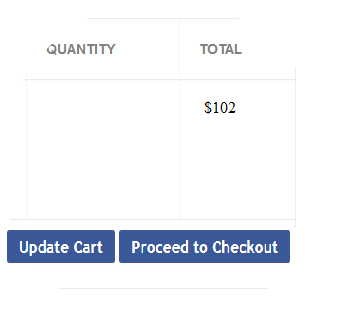 update cart and proceed to checkout
